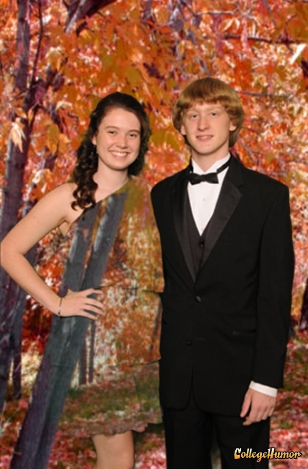 Girl Wears Green Dress in front of Green Screen @ Prom - FaveThing.com
