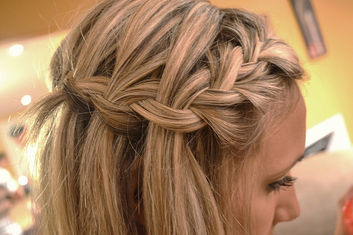 Waterfall Plait Hairstyle Tutorial Hair Romance