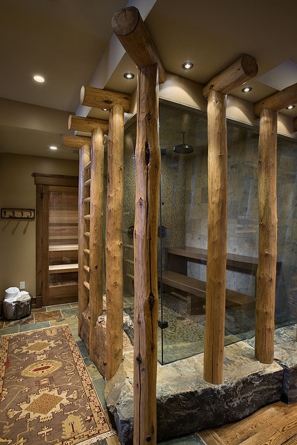 Rustic Steam Bath / Shower Combo