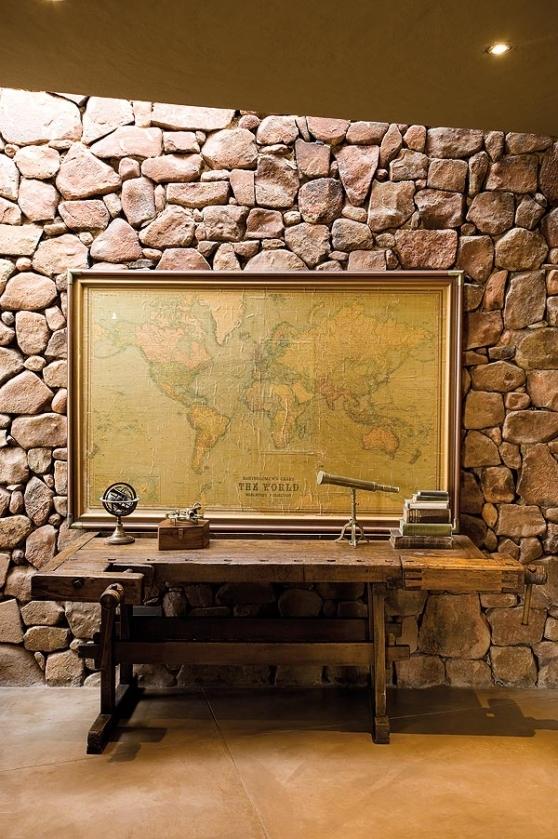 natural stone interior wall