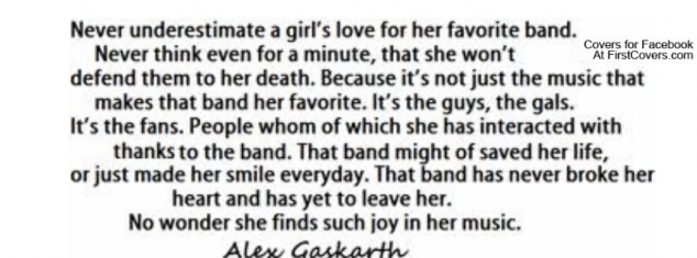 Never underestimate a girl\'s love for her favourite band ...