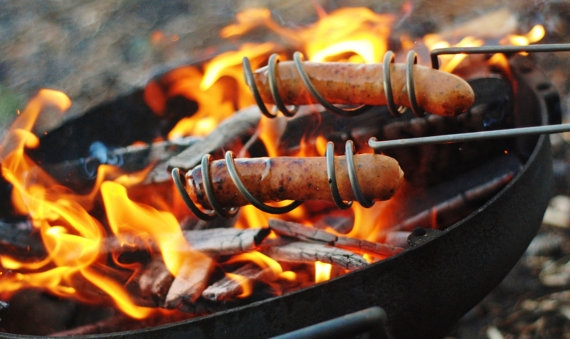 Curly Campfire Hot Dog Roasters Favething Com