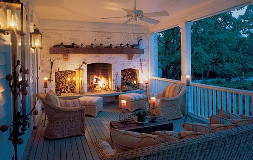 Back porch fireplace for Back porch fireplace