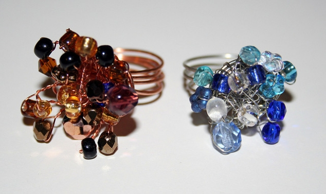 gem wire rings