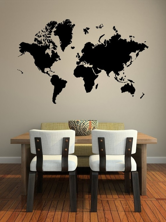 Map Wall Mural world map wall mural - favething