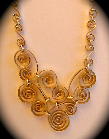 Aluminum wire necklace