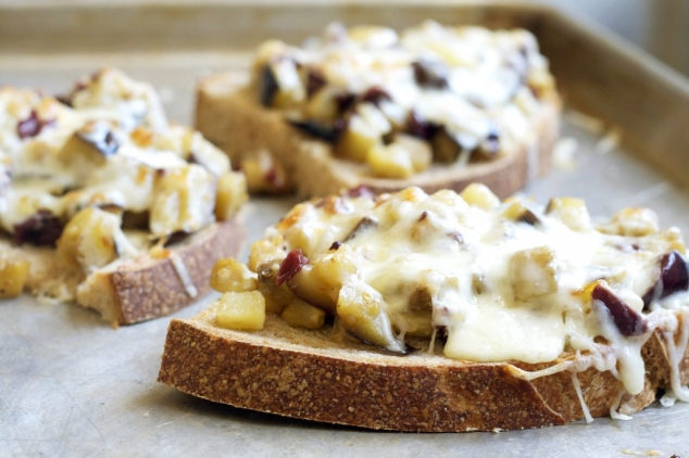 Open-Face Eggplant Sandwich