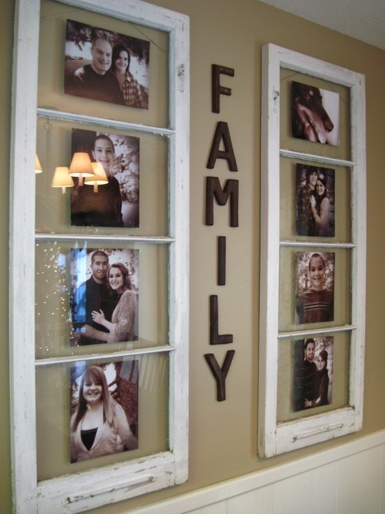 Old window picture frames for Using old windows as picture frames