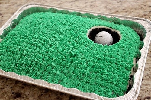 Golf Green Fathers Day or Birthday Cake FaveThingcom