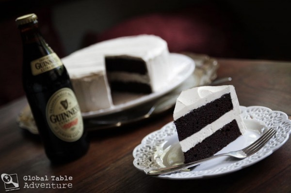 Dark Chocolate Guinness Cake with Bailey's Buttercream Icing