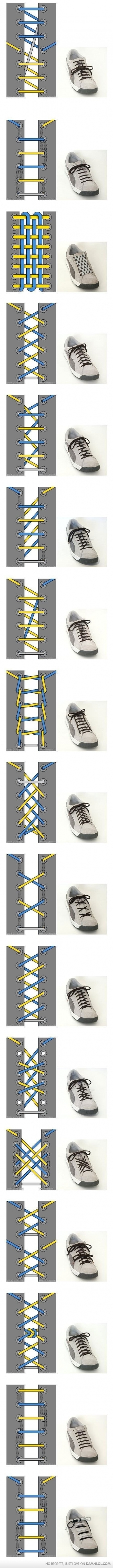 36 Cool Ways To Tie Your Shoe Laces