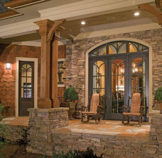 Beautiful Stonework On This Craftman Home