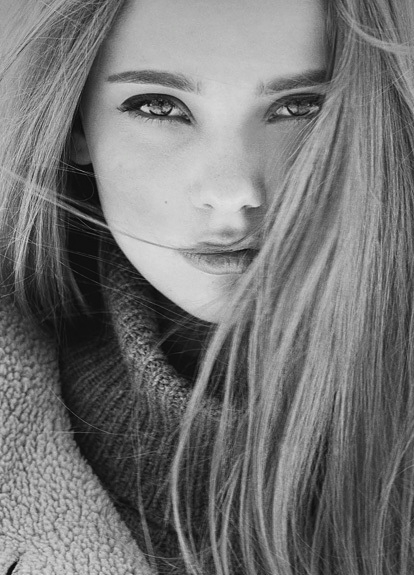 Stunning eyes this black and white photographic portrait