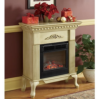 Ivory Queen Anne Electric Fireplace Favething Com