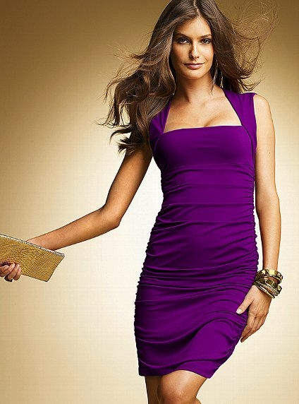Purple Jersey Dress