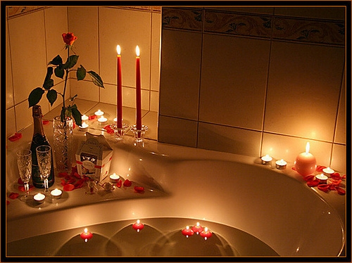 Romantic Bath Time!