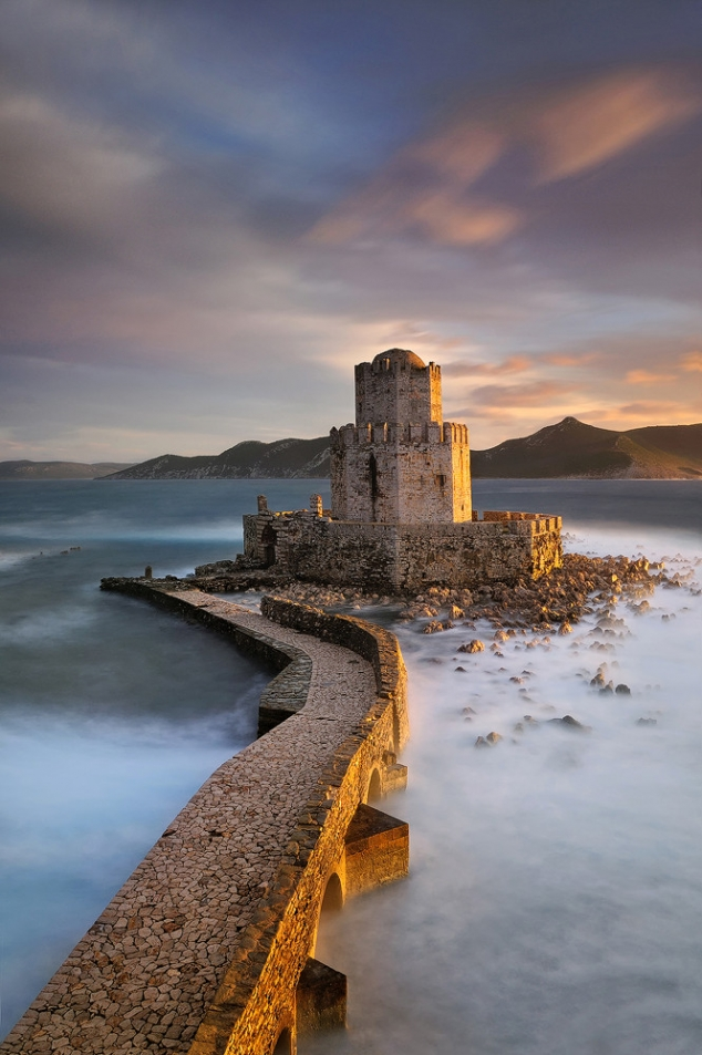 The Castle Of Methoni In Messenia Peloponnese Greece