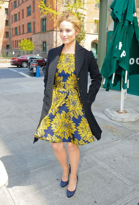 Dianna Agron wears Alice + Olivia Dress
