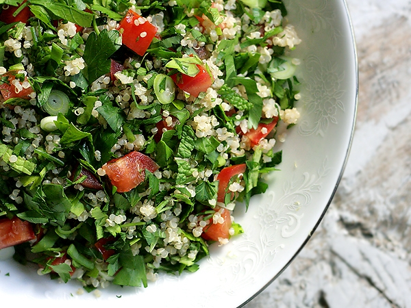 Quinoa Tabbouleh Salad in Healthy Food Ideas