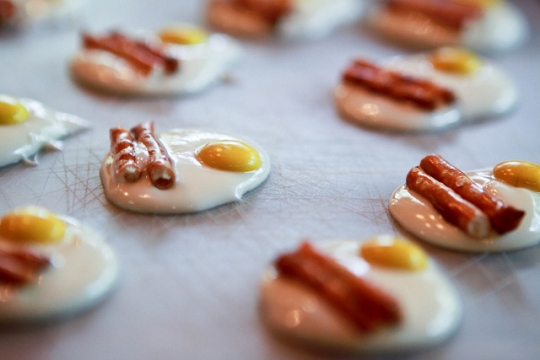 Bacon and Egg Styled Chocolates