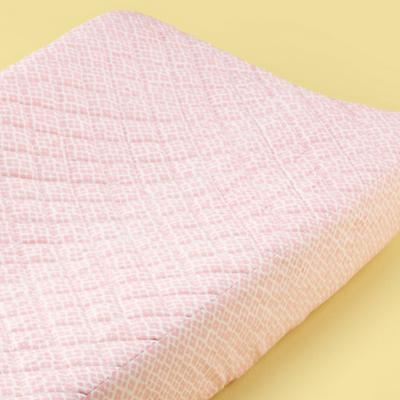 Pink Garden Changing Pad Cover
