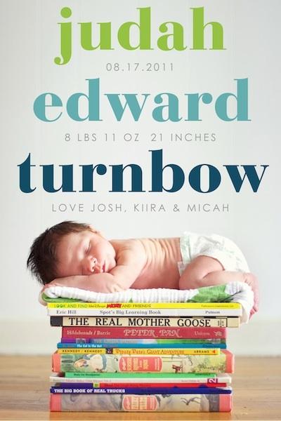 Cute Birth Announcement Idea FaveThing – Birth Announcement Idea