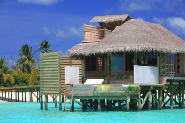 The Six Senses Resort in Laamu, Maldives