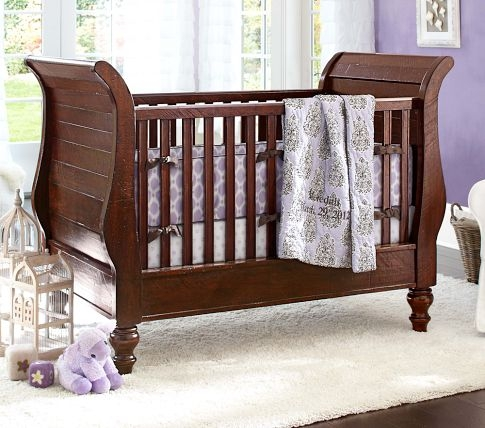 pottery barn sleigh bed crib 2