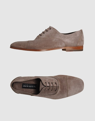 Suede lace shoes by Fratelli Rossetti in dove grey