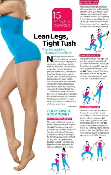 Lean legs, tight tush