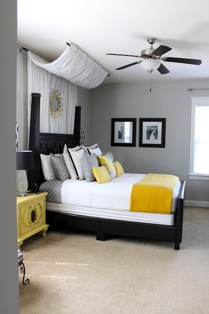 Bedroom Ideas Yellow And Gray bedroom ideas - favething