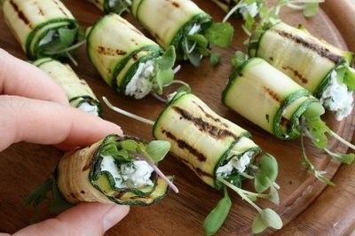 Grilled Zucchini Rolls with Goat Cheese in Favorite Recipes