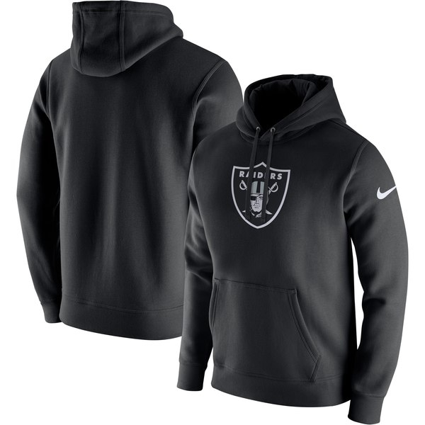 Men's Nike Black Oakland Raiders Club Fleece Logo Pullover Hoodie