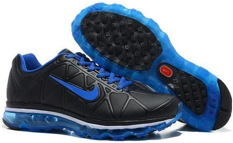 huge selection of 84386 d2c5e Mens Nike Air Max 2011 Leather Black Blue 429889004