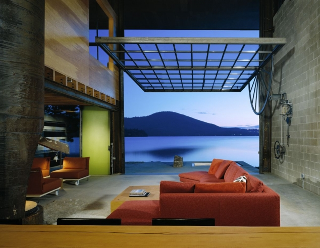 Modern Cabin with Massive Swinging Glass Wall - Image 2