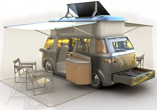 Modern Reinterpretation Of The Classic VW Westfalia Camper Van