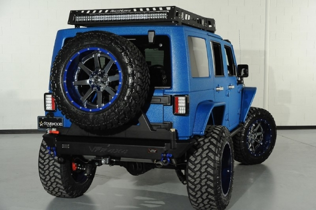 Modified Candy Blue Jeep Wrangler by Starwood Customs ...