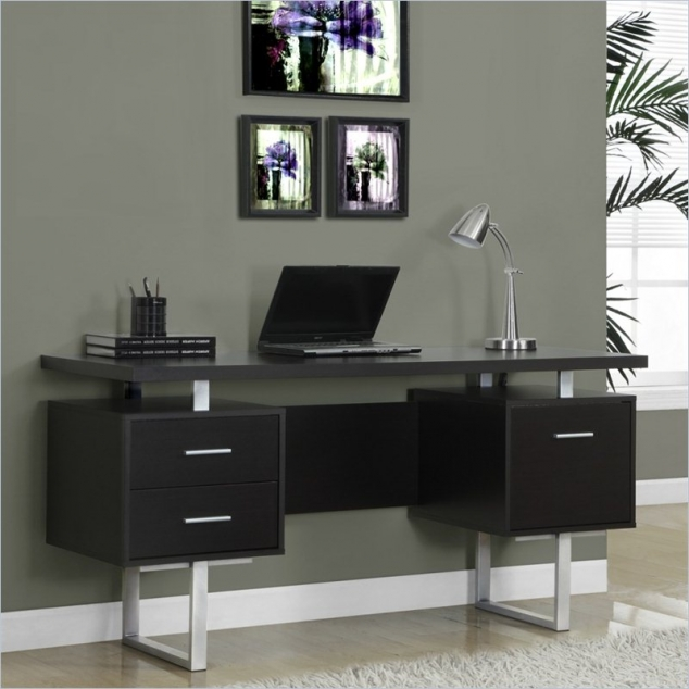 Monarch 60 inch Hollow Core Office Desk in Cappuccino
