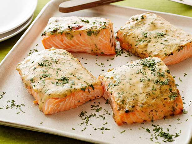 Mustard Maple Roasted Salmon