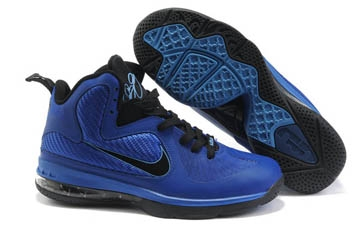 Nike Air Max Lebron James IX 9 Royal Blue/Black Mens Basketball