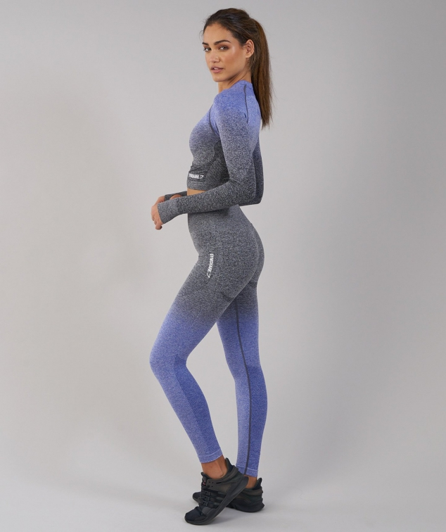 bb394e87ba1e0f Ombre Seamless Crop Top by Gymshark - FaveThing.com