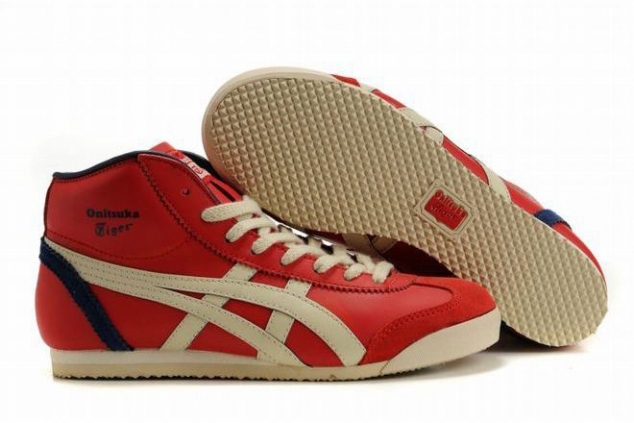 Onitsuka Tiger Mexico 66 Mid Red/Beige/Dark Blue Women's