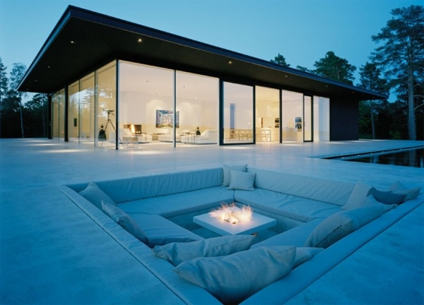 Outdoor sunken seating area for Sunken seating