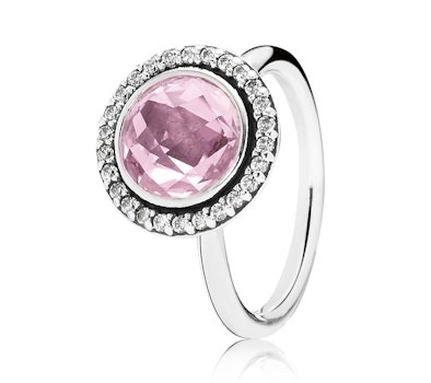 Pandora Statement Sparkling Pink Ring