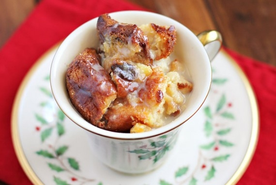 Panettone Bread Pudding With Amaretto Sauce in Christmas Cooking