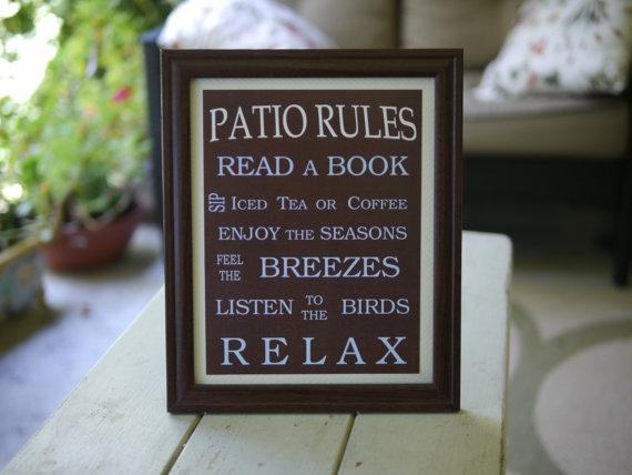 Patio Rules Favething Com