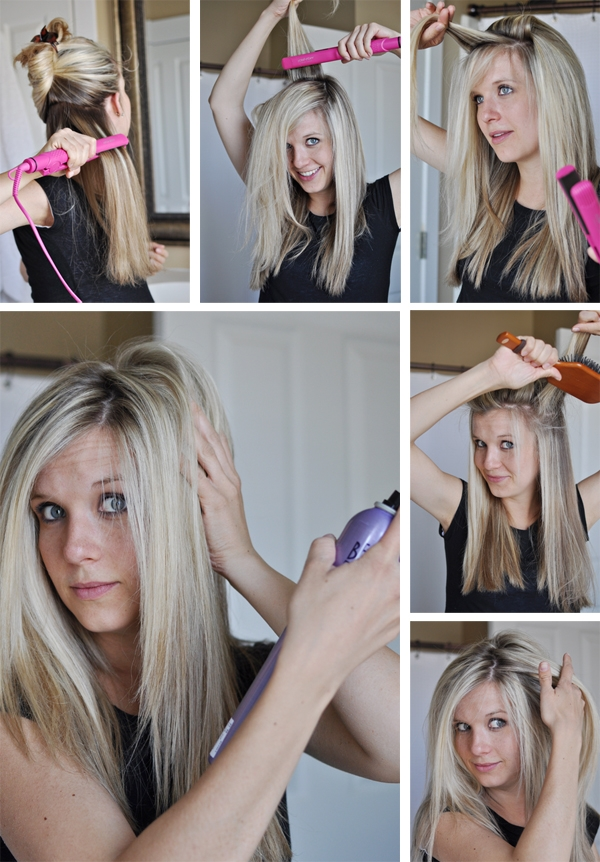 Perfectly straight hair tutorial