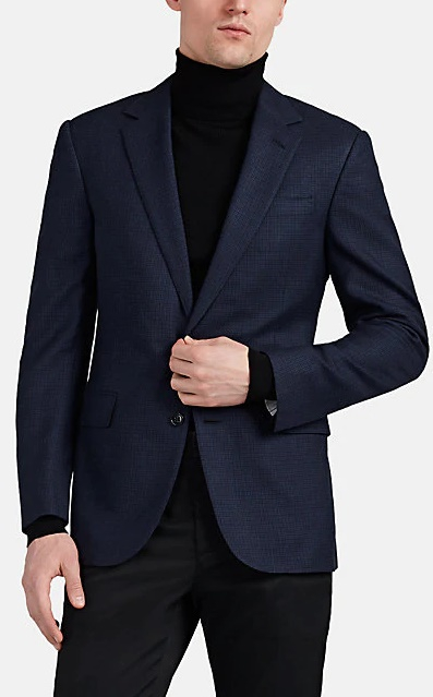 Ralph Lauren Checked Wool-Blend Two-Button Sportcoat