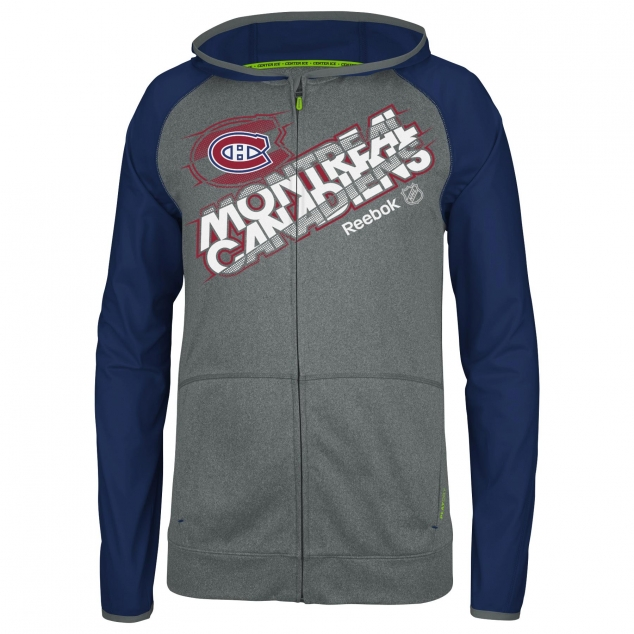 Reebok Montreal Canadiens Center Ice Travel N' Training Full Zip Jacket