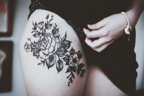 Rose Thigh Tattoo Favething Com